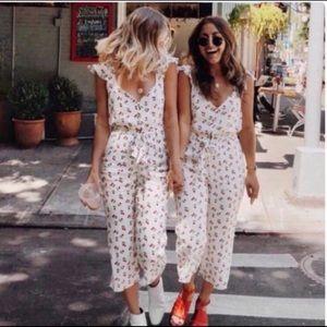 NWT For Love & Lemons Limonada cherry jumpsuit